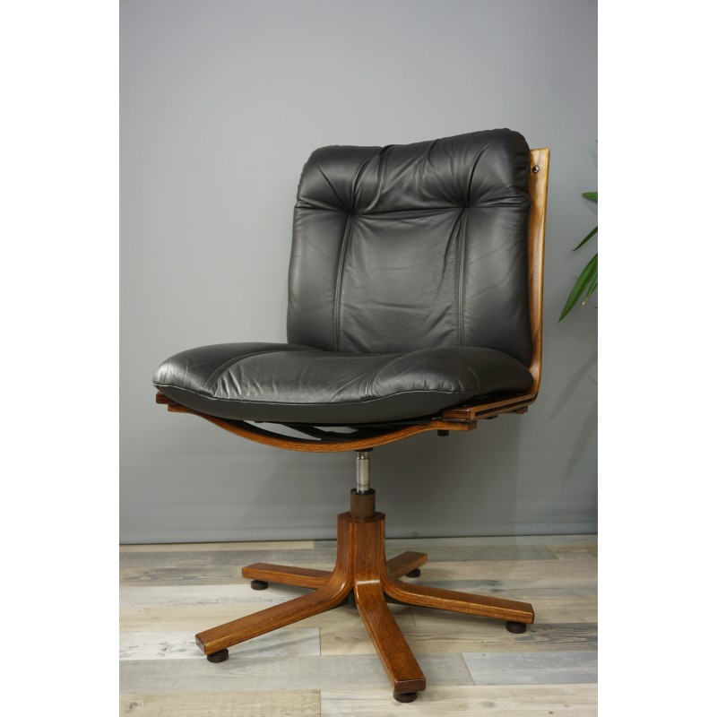 leather antique wood office chair leather antique. Contemporary Office Vintage Swivel Office Chair In Wood And Leather  1970s On Leather Antique Wood Office Chair