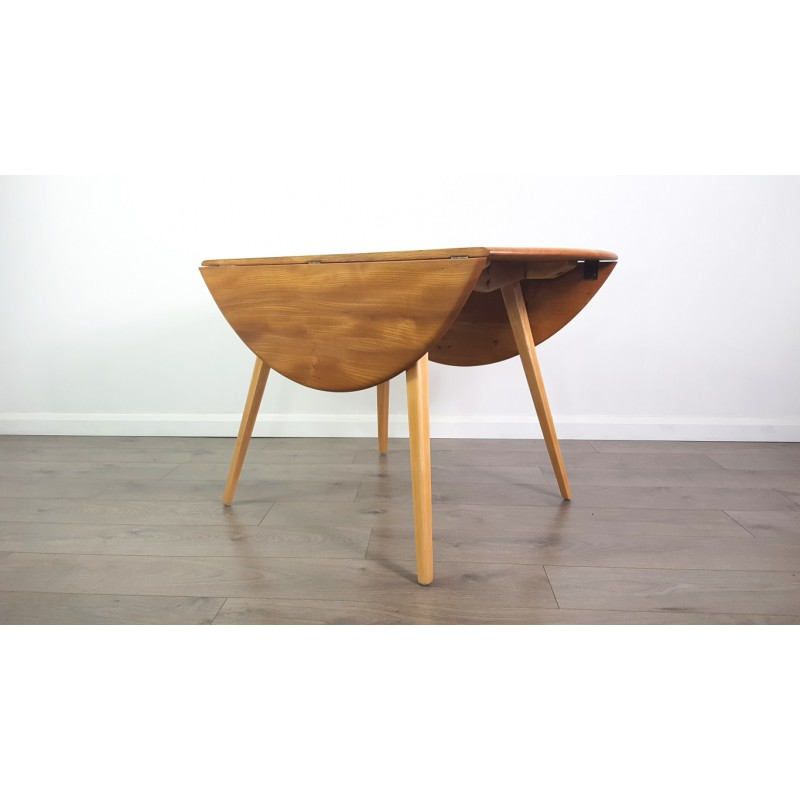 Vintage Drop Leaf Table By Lucian Ercolani For Ercol 1960s