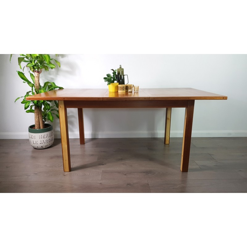 Vintage Extendable Dining Table in teak - 1970s