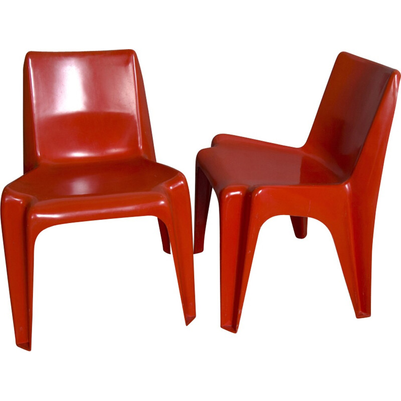 Set of two Vintage BA1171 Chairs by Helmut Bätzner for Bofinger - 1960s