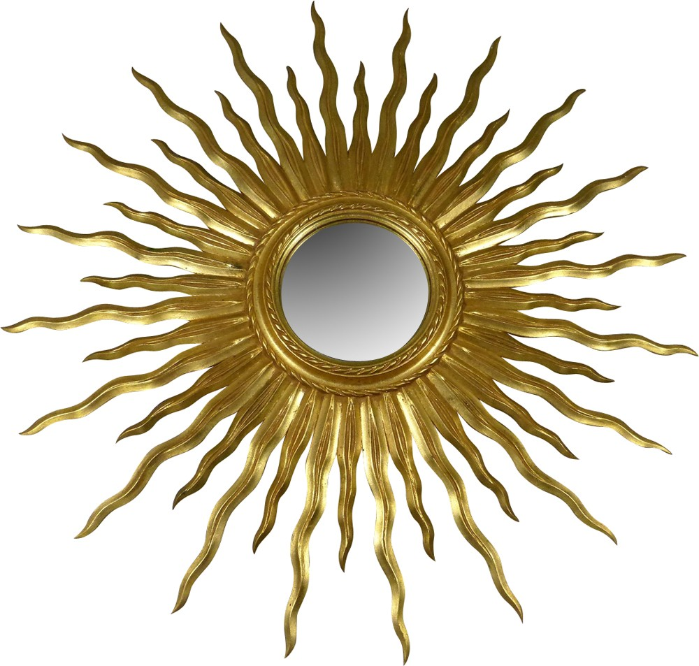 Big Vintage Sunburst Mirror 1950s Design Market
