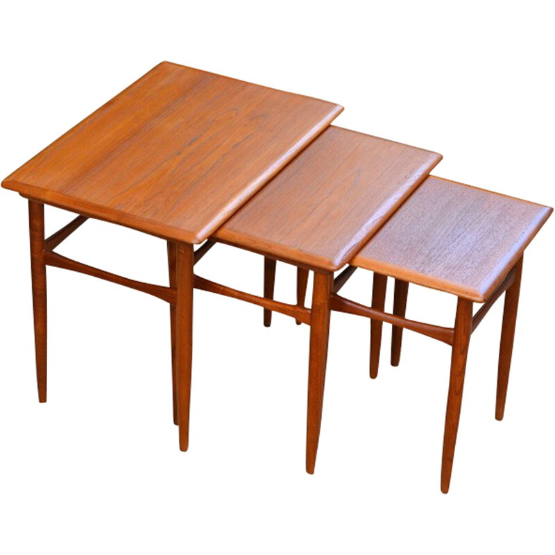 Vintage Nesting Tables by Kai Kristiansen for Skovmand & Andersen - 1960s