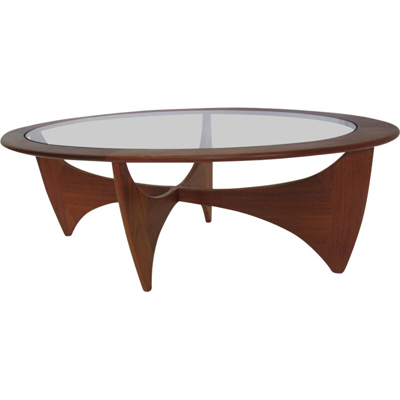 Vintage Astro oval coffee table in teak - 1960s