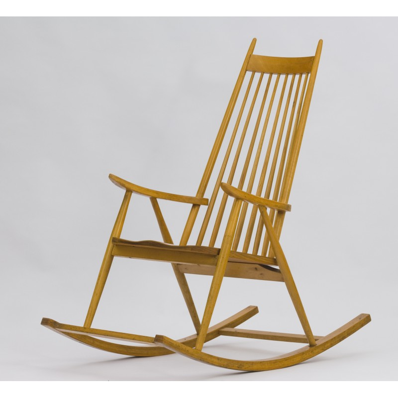 Surprising Vintage Wooden Rocking Chair From Finlad 1960S Ncnpc Chair Design For Home Ncnpcorg