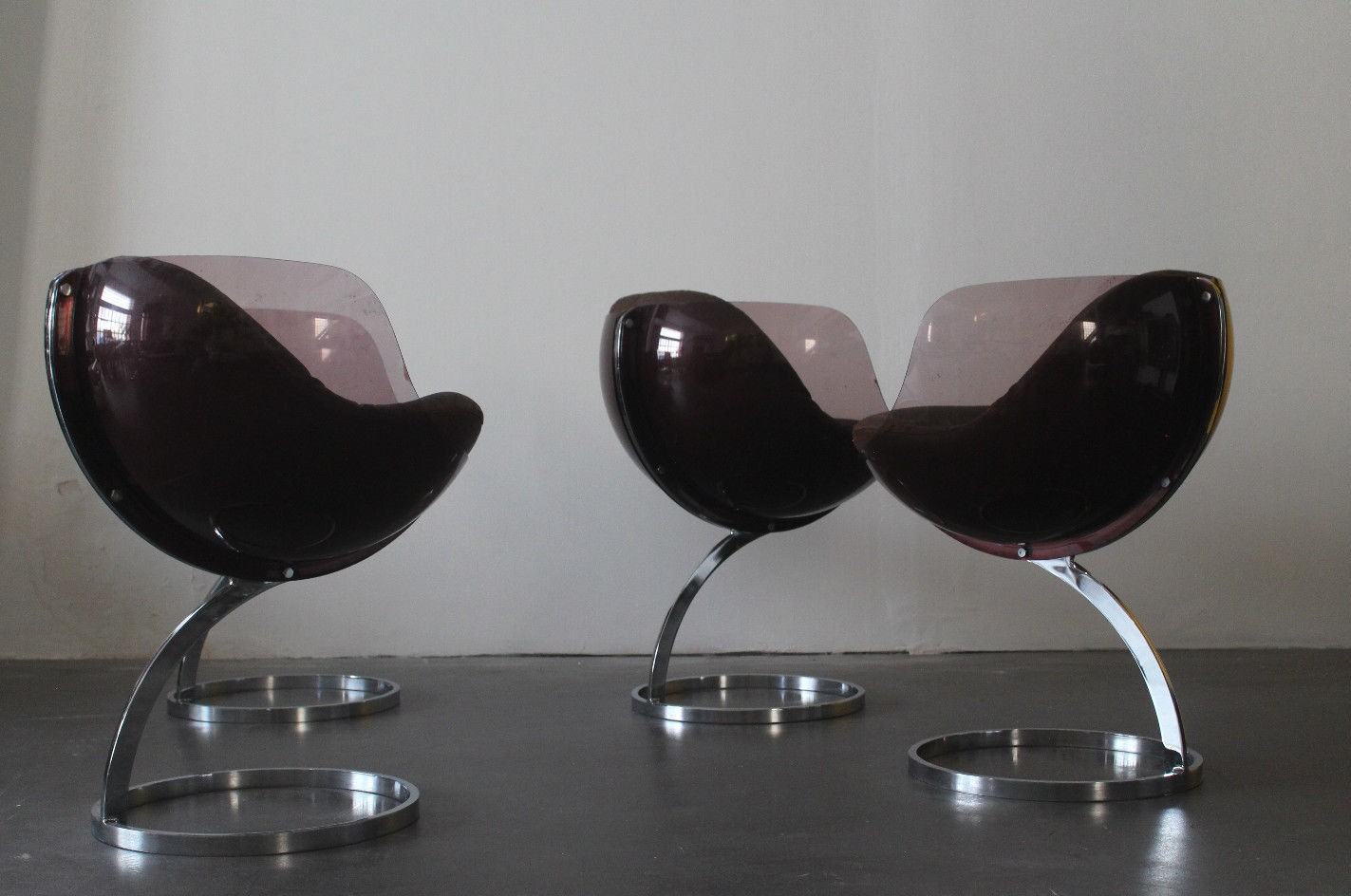 Set Of 4 Vintage Sphere Chairs By Boris Tabacoff 1970s
