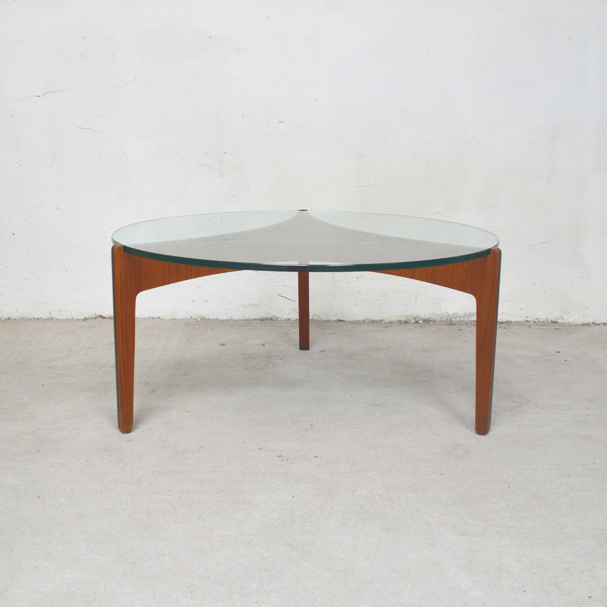 Vintage Danish teak and glass coffee table - 1960s ...