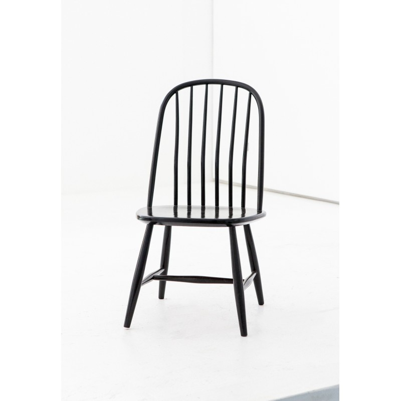 d4e276fb95acf Set of 6 Swedish Dining Chairs in Black Wood by Bengt Akerblom and G. Eklöf  - 1950s - Design Market
