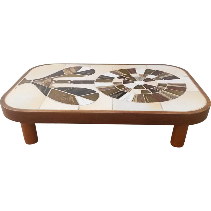 Vintage ceramic coffee table by Roger Capron - 1970s