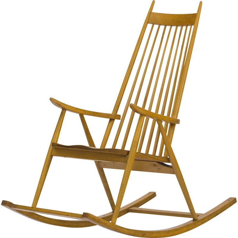 Vintage Wooden Rocking Chair from Finlad - 1960s