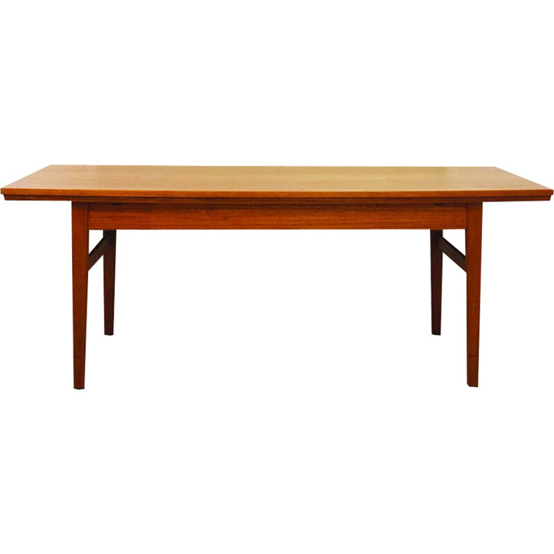 Vintage Danish extendable teak dining table - 1960s
