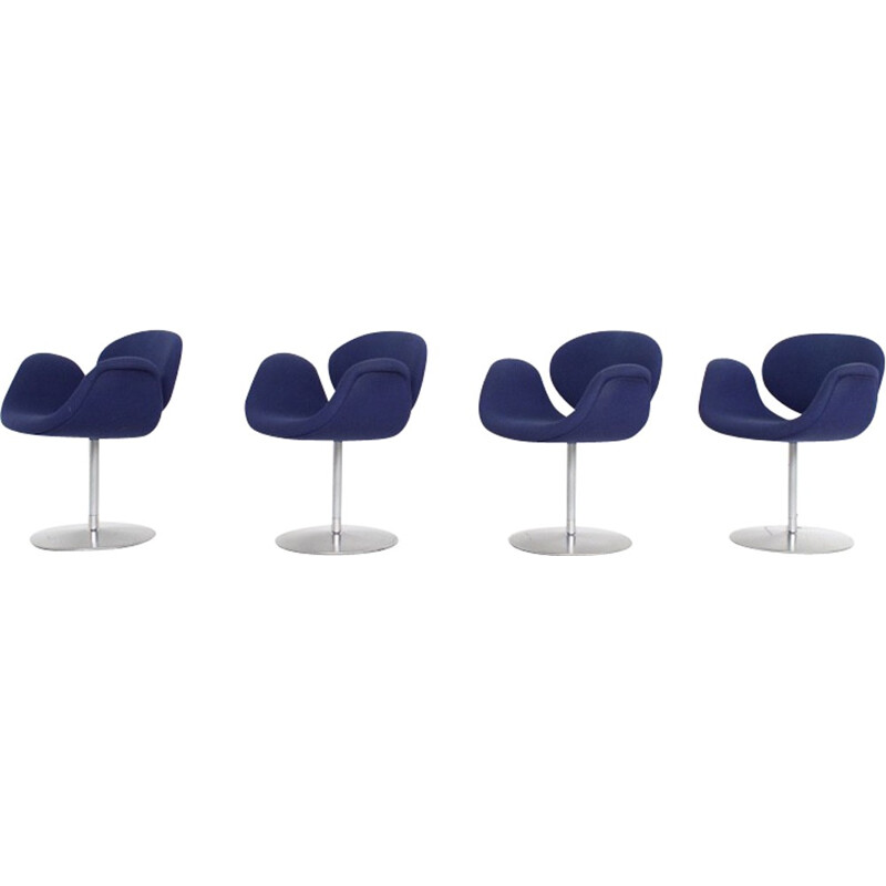 Set of 4 vintage Little Tulip chairs by Pierre Paulin for Artifort - 1970s