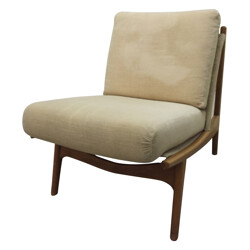 Low chair by French Joseph-André MOTTE - 1950s