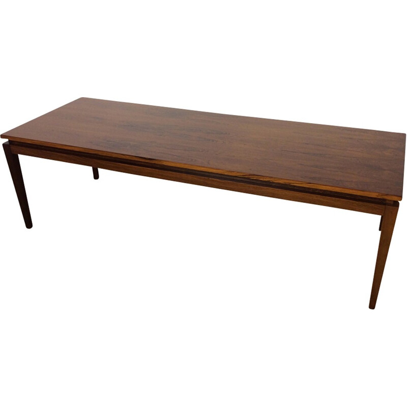 Vintage coffe table in rosewood by Kai Kristiansen - 1960s