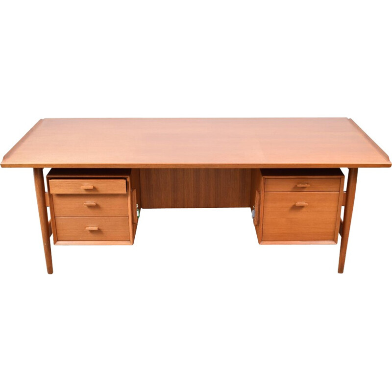 Vintage Teak Executive desk by Arne Vodder for Sibast - 1960s