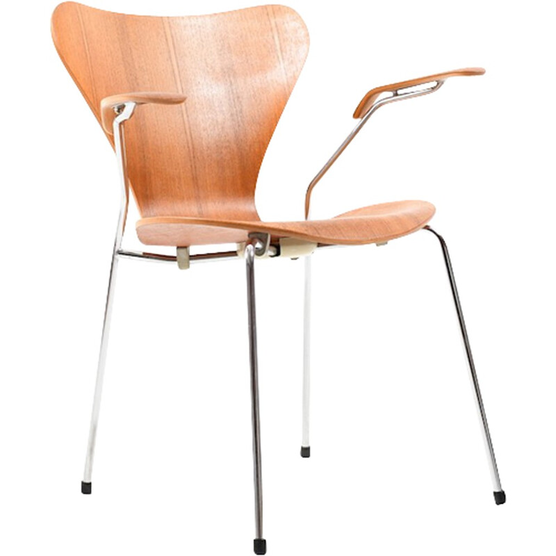 """Vintage """"Série 7"""" dining chair by Arne Jacobsen for Fritz Hansen - 1960s"""