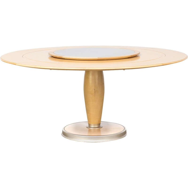 """Vintage round dining table """"isa""""  by Chi Wing Lo for Giorgetti - 1990s"""