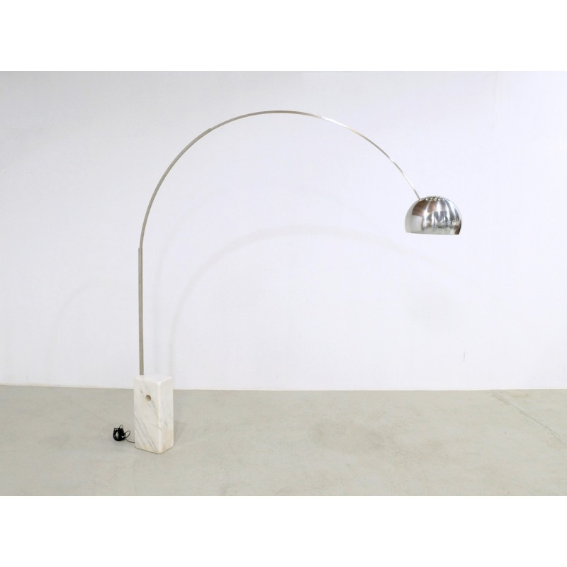 Vintage flos arco floor lamp by archille and pier giacomo previous mozeypictures Choice Image