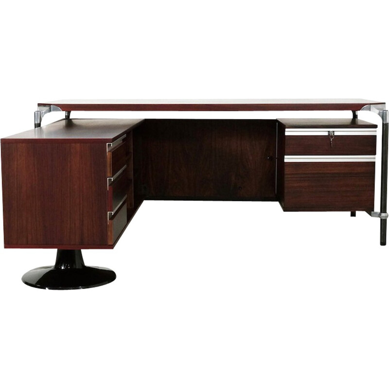 Vintage Executive Corner Desk by Ico Parisi for MIM Roma - 1960s