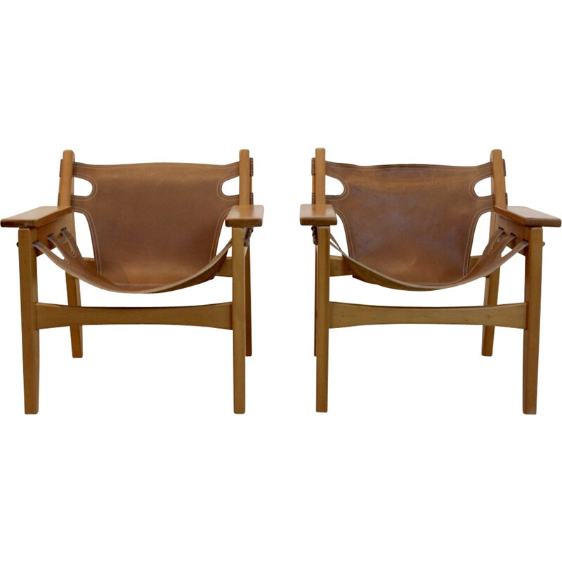 "Vintage set of 2 ""Kilin"" lounge chairs by Sergio Rodrigues for Oca Industries, Brazil - 1970s"