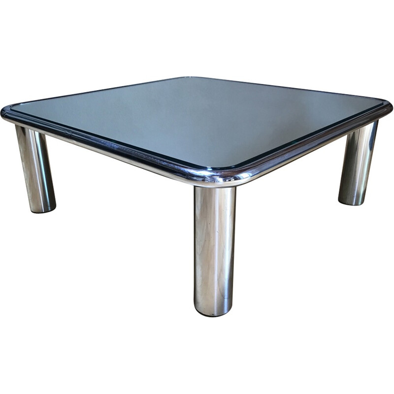 Chromed coffee table by Mario Bellini for Cassina - 1970s