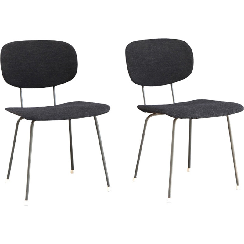 Pair of vintage black chairs - 1950s