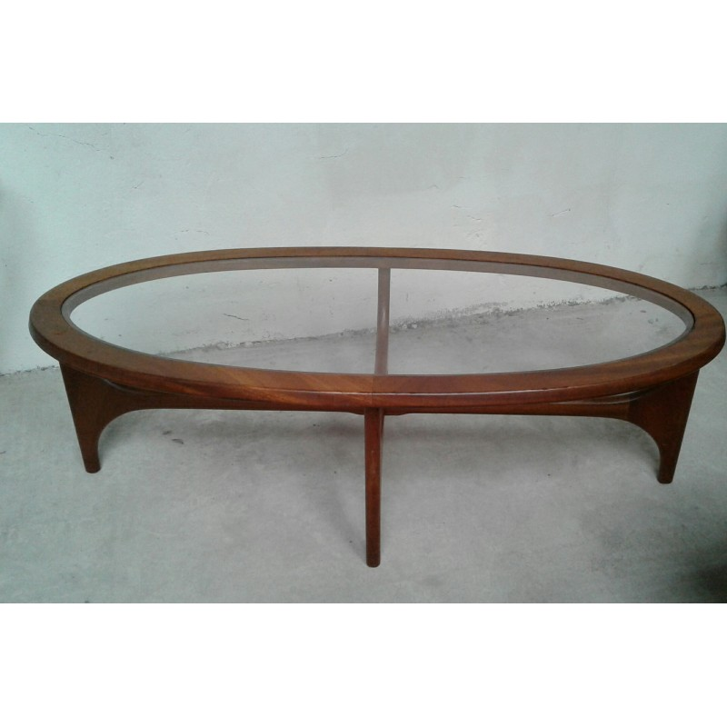 Teak Oval Coffee Table: Oval Coffee Table In Teak With Glass Top By Stateroom For
