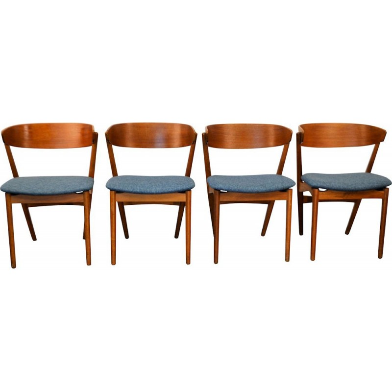 Set of 4 Vintage teak dining chairq by Helge Sibast - 1950s