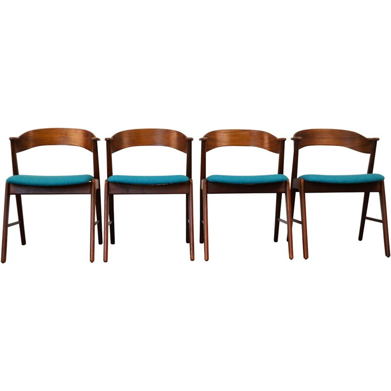Set of 4 Teak Vintage dining chairs by Kai Kristiansen - 1960s