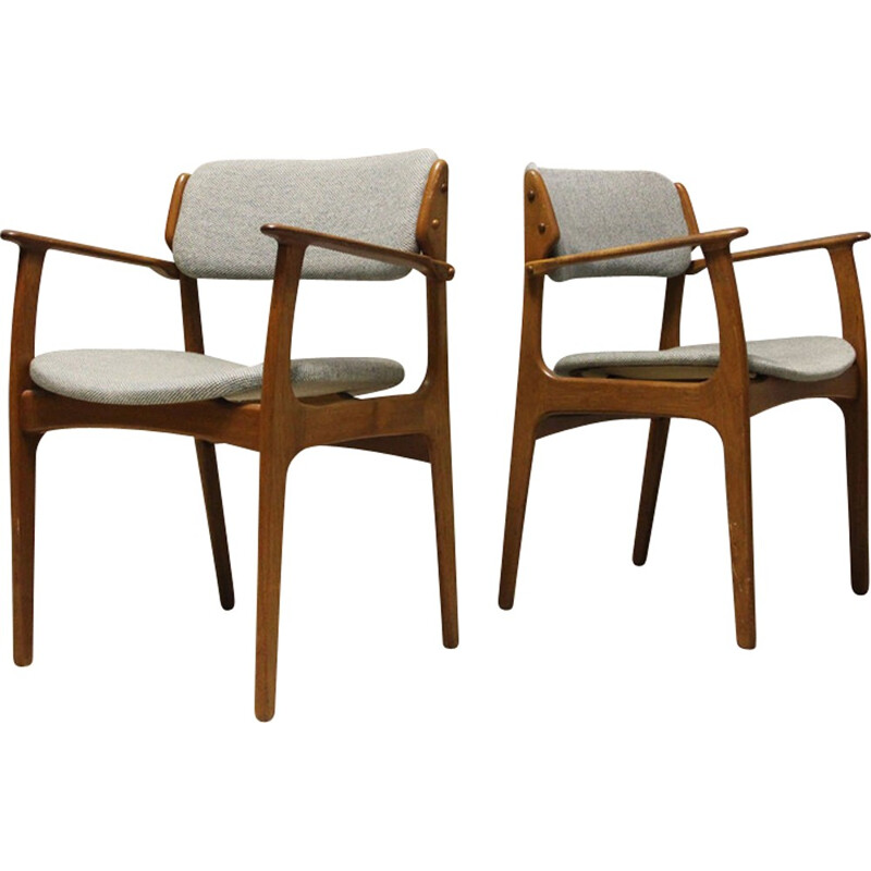 "Set of 2 Armchairs ""N 49"" by Erik Buch for O.D. Mobler AS - 1960s"