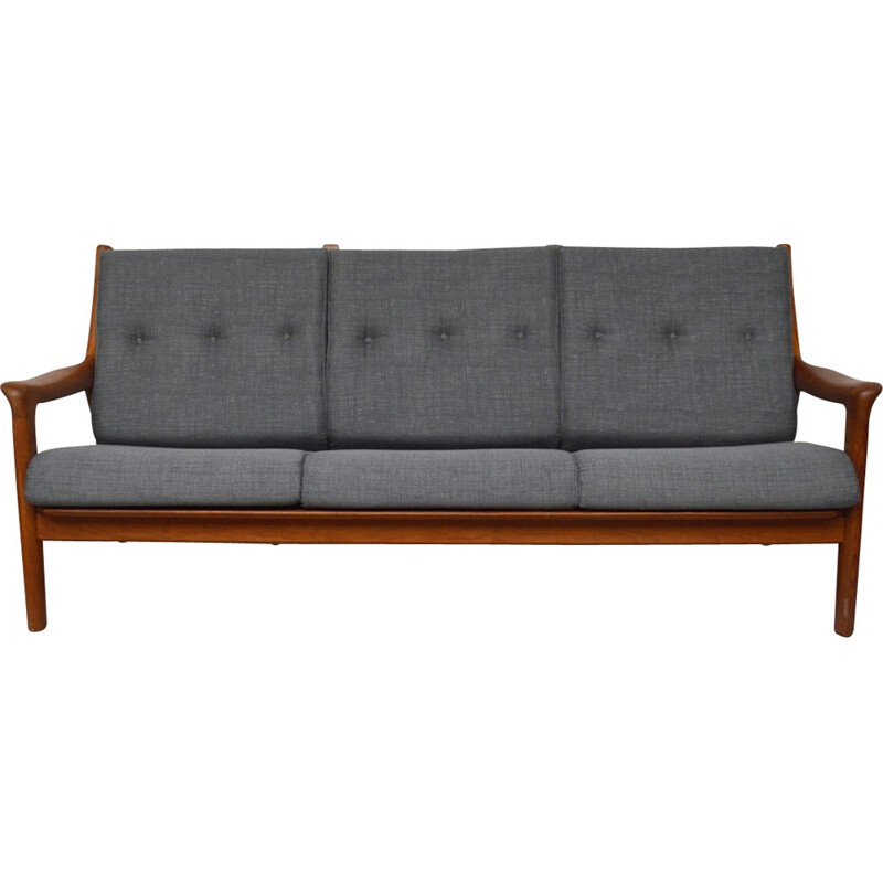 Vintage danish 3-seater sofa daybed - 1960s