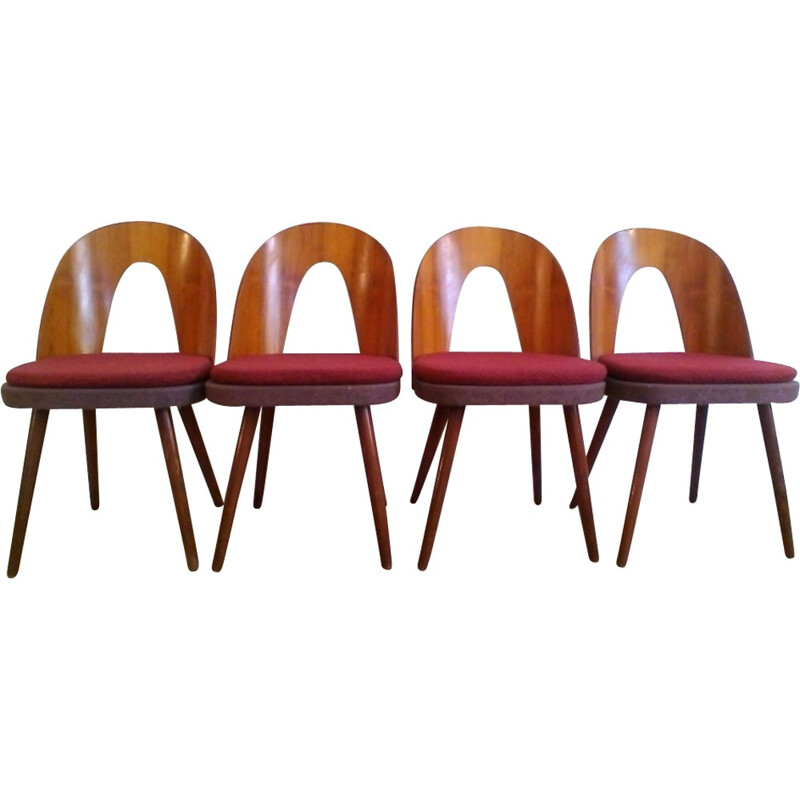 Set of 4 vintage Beechwood Chairs by Antonín Šuman - 1960s