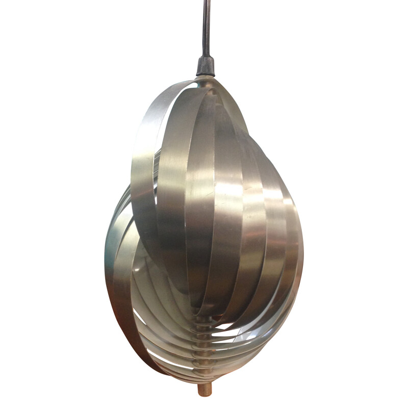 Large helical hanging lamp, Henri MATHIEU - 1970s