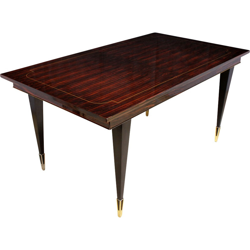 Vintage Macassar Ebony Dining Table - 1950s