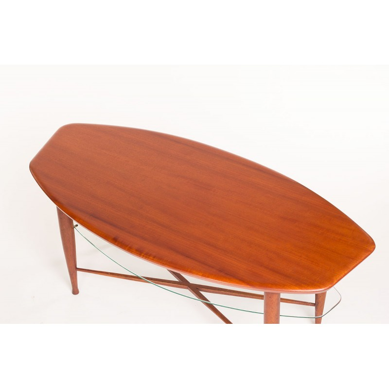 Outstanding Vintage Danish Teak Coffee Table With Glass Magazine Tray 1960S Gamerscity Chair Design For Home Gamerscityorg