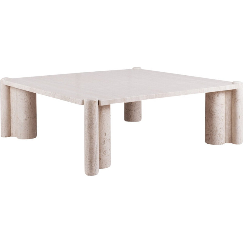 Travertine vintage Jumbo Coffee Table by Gae Aulenti - 1960s