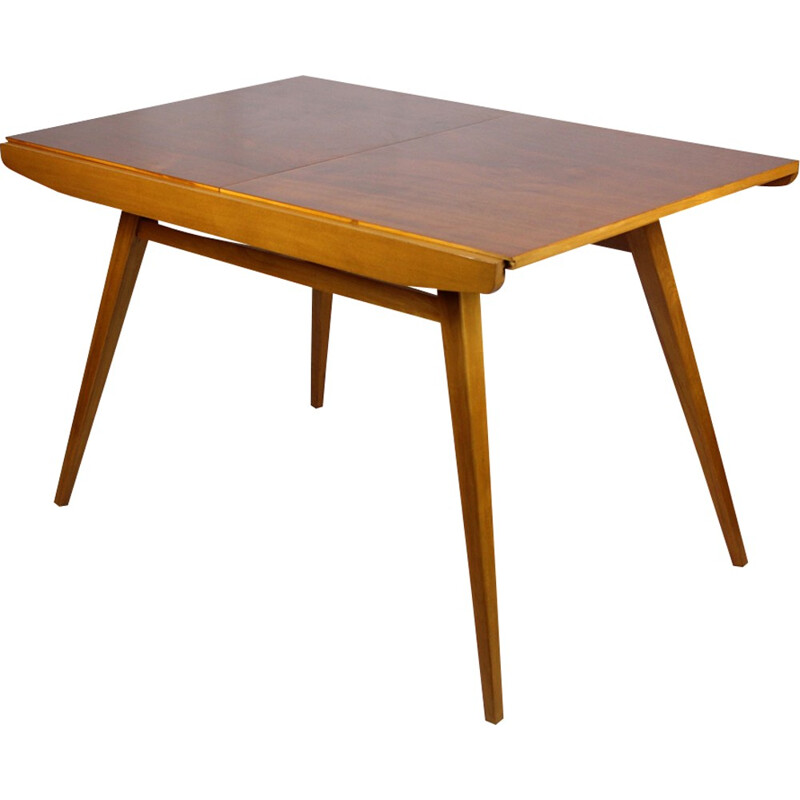 Vintage Walnut Veneered Dining Table by František Jirák for Tatra - 1960s