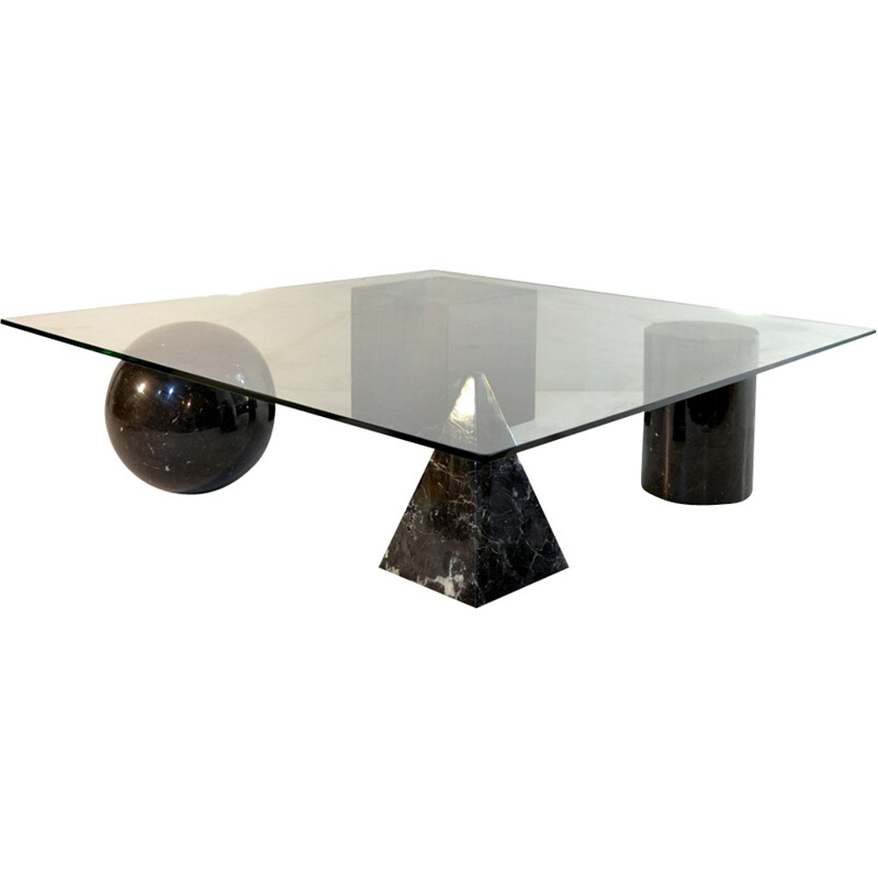 "Vintage Coffee Table ""Metafora"" by Massimo & Lella Vignelli - 1970s"
