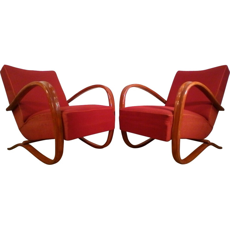 Set of 2 Vintage H269 Armchairs by Jindrich Halabala - 1930s