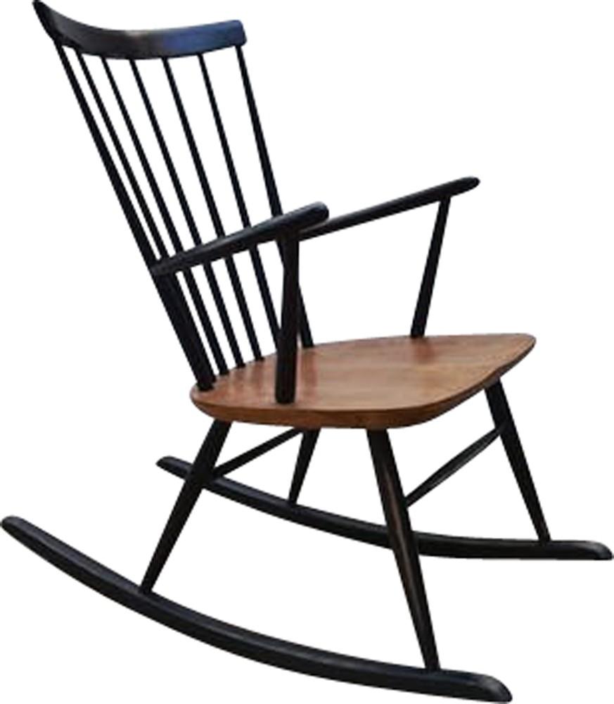 Vintage Scandinavian Teak Rocking Chair 1960s Design