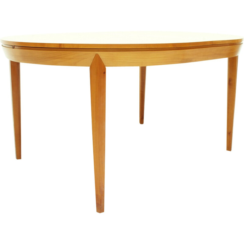 Extendible Cherry Wood Dining Table - 1950s