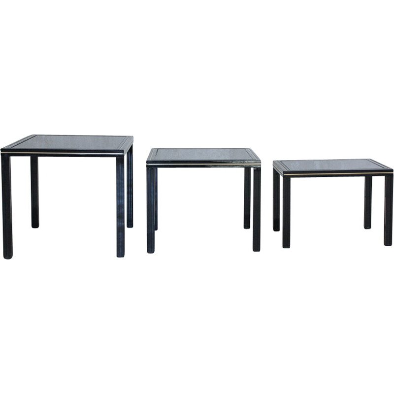 Set of 3 nesting Tables by Pierre Vandel - 1970s