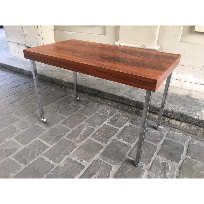 Vintage Coffee Table With Stainless Steel Legs