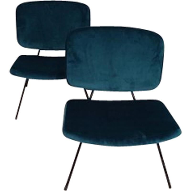 """Set of 2 """"CM190"""" low chairs by Pierre Paulin for Thonet - 1960s"""