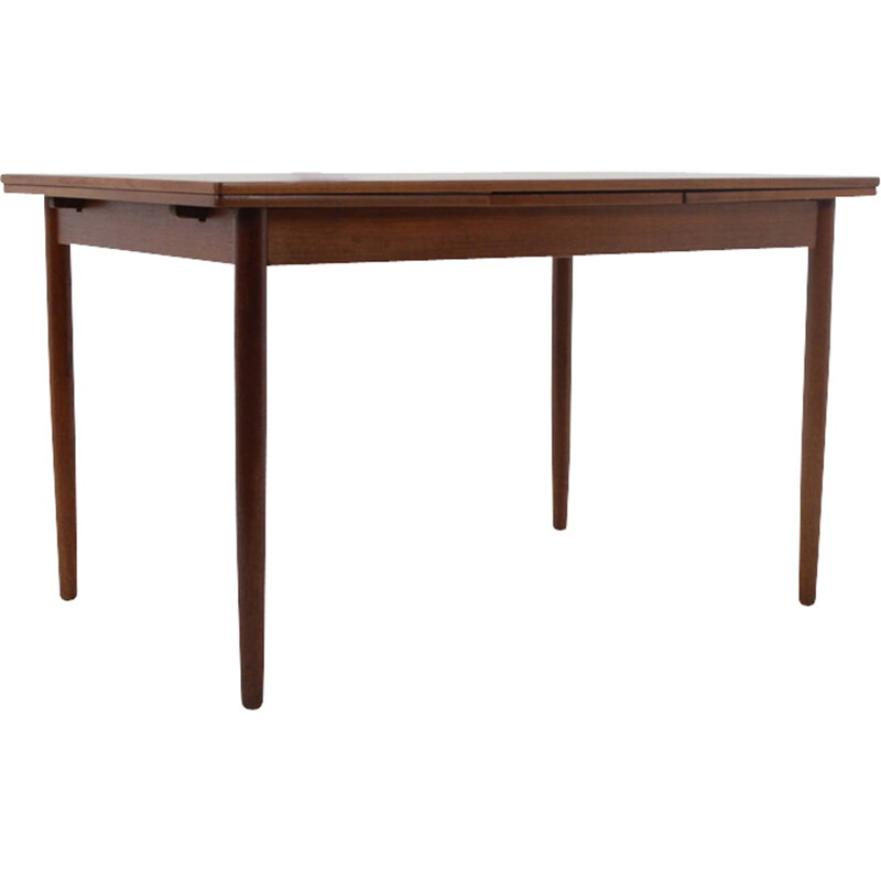 Vintage teakwood and teak veneer extendable table - 1960s