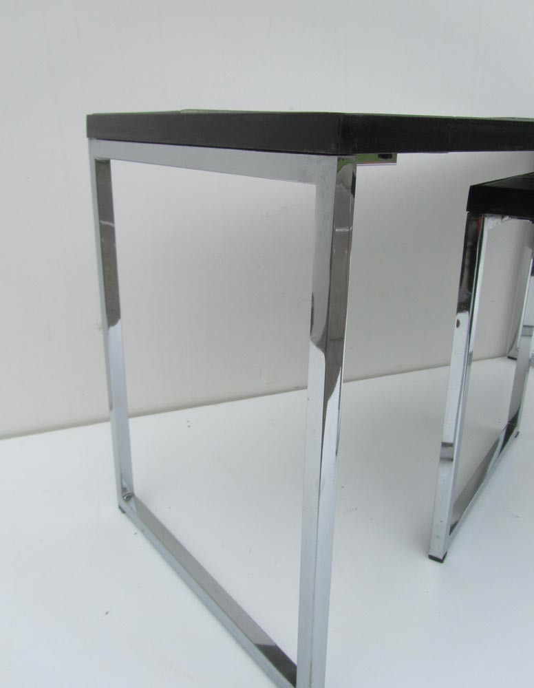 Pair Of Coffee Tables In Ceramic Iron And Steel Juliette Belarti