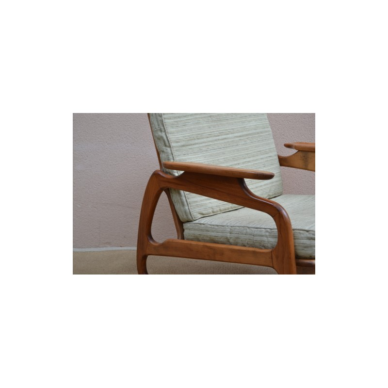Rocking Chair In Beechwood And Fabric, Adrian PEARSALL   1960s. Vintage  Design Furniture. Previous