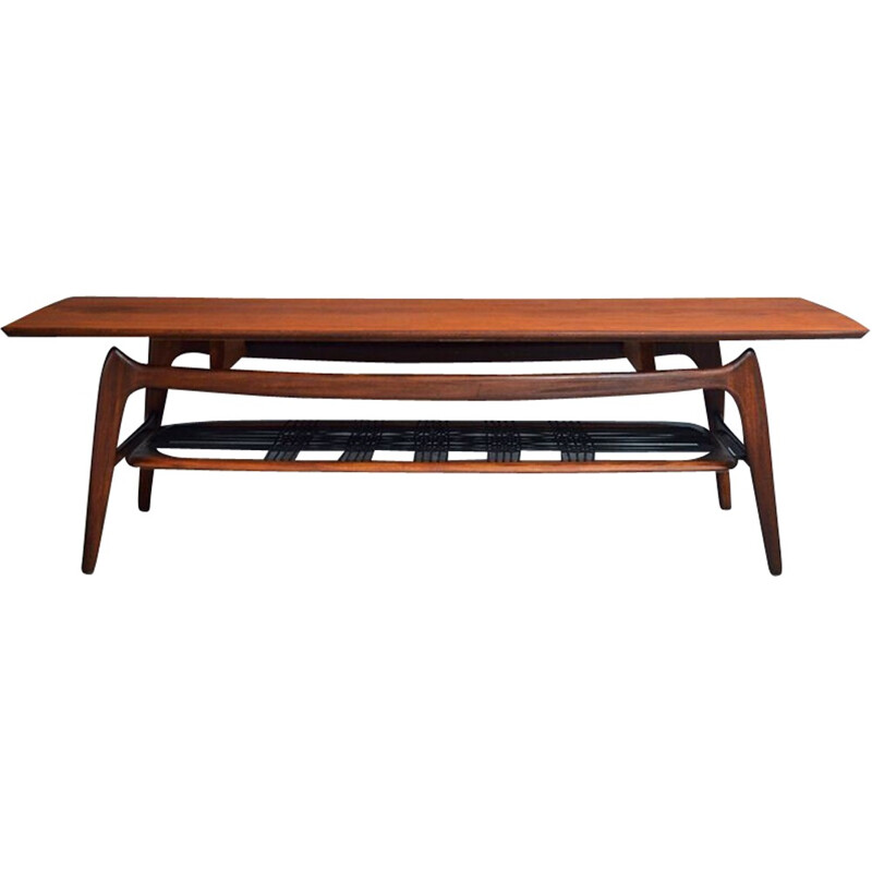 Vintage coffee table by Louis van Teeffelen for WeBe - 1950s
