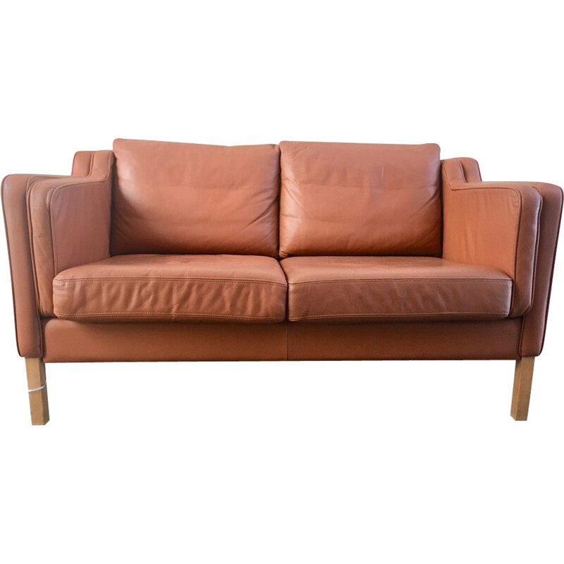 Vintage Leather sofa for Stouby - 1960s