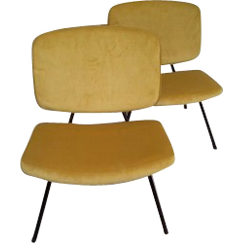 Pair of CM190 low chairs by Pierre Paulin for Thonet - 1960s