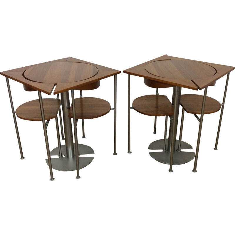 Vintage dining set table and 2 chairs 1960